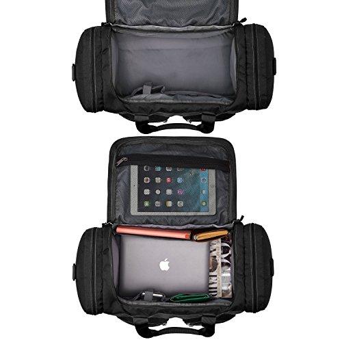 Gonex 45L Travel Duffle, Gym Bag, Luggage Duffel Water-Resistant Multi-Pockets Black