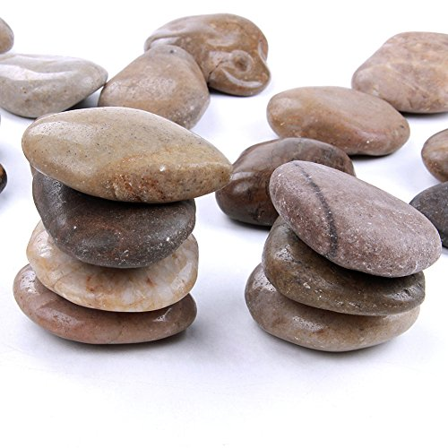 skullis 4 Pounds 2-3 inch Natural Rocks Painting Kindness Rocks Crafting Party Pack Bundle River Stones Painting Crafts - Natural Smooth Surface Arts & Crafting Rock Painting Supplies Kid ()