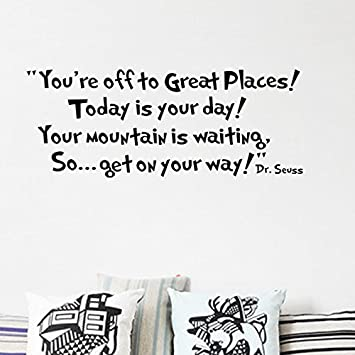Amazoncom LUCKKYYregYoure Off To Great Places Dr Seuss - Dr seuss nursery wall decals