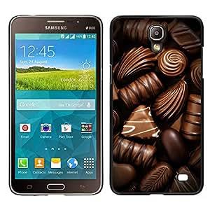 TopCaseStore / la caja del caucho duro de la cubierta de protección de la piel - Box Chocolate Candy Art Dark Sweet - Samsung Galaxy Mega 2