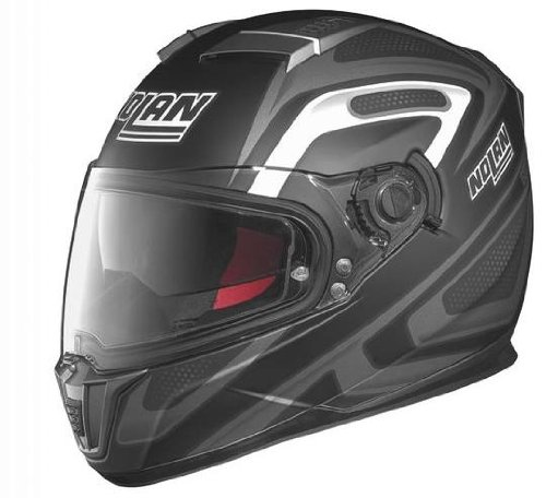 Nolan N-86 Overtaking Non N-Com Helmet , Distinct Name: Flat Black/Anthracite/White, Gender: Mens/Unisex, Helmet Category: Street, Helmet Type: Full-face Helmets, Primary Color: Black, Size: XL N8R5277930326