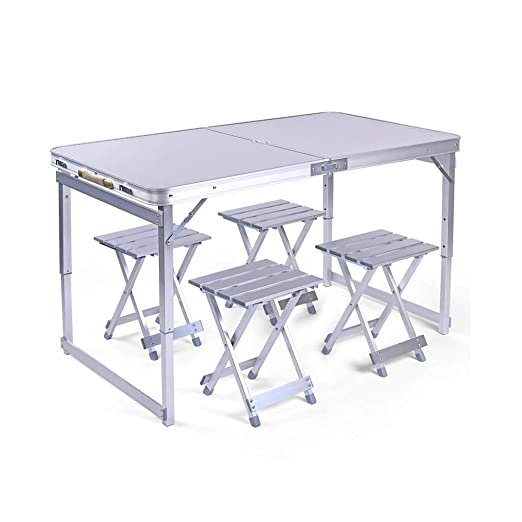 El Combinación de mesa plegable de plata de alta resistencia,juego ...