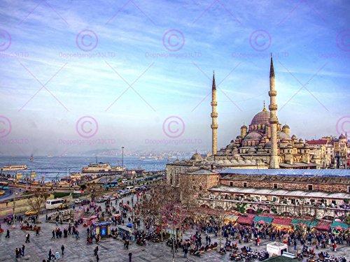 - PHOTOGRAPHY LANDMARK SULTAN AHMED MOSQUE ISTANBUL TURKEY PRINT 18 x 24