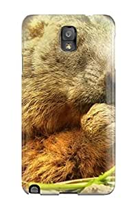 KellieLeanne Perfect Tpu Case For Galaxy Note 3/ Anti-scratch Protector Case (marmot Who Smoke)