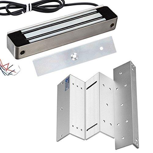 Maglock Single - UHPPOTE 280KG 600Lbs Holding Force Waterproof Single Door Magnetic Lock With Bracket