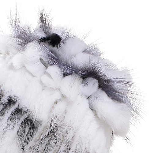 Rabbit Fur Hat Winter Fashion Knit Hats Women Real