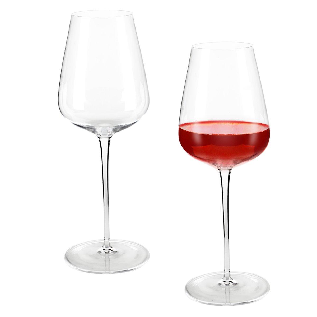 Incutex set de 2 grands verres à vin soufflés bouche verres vin cristal géants XXL 700ml big wine glasses