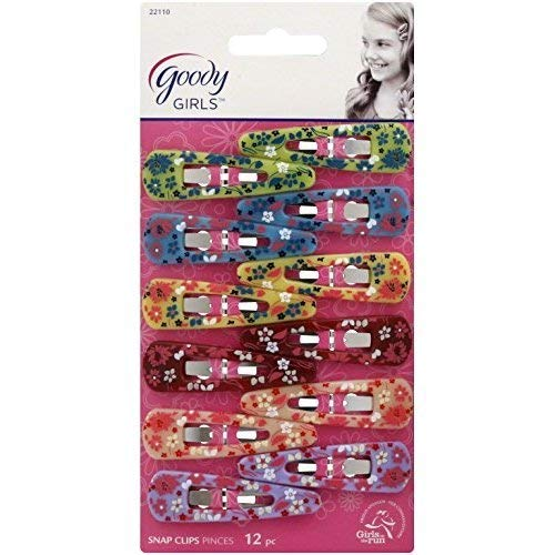 Goody Girls Classics Floral Pattern Contour Clip 12 ea (Pack of 2) (Goody Girls Hair Clips)