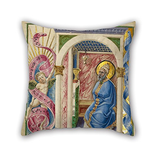 Slimmingpiggy The Oil Painting Taddeo Crivelli (Italian, Died About 1479, Active About 1451 - 1479) - Saint Gregory Pillow Shams Of ,18 X 18 Inches / 45 By 45 Cm Decoration,gift For Deck Chair,famil (European Cm Size Pillow)