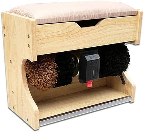 QFFL Máquina limpiabotas automático Máquina para Lustrar Zapatos, Máquina para Lustrar Zapatos Máquina Automática para Lustrar Zapatos Máquina para Lustrar Y Pulir Zapatos con Caja De Almacenamiento (: Amazon.es: Hogar
