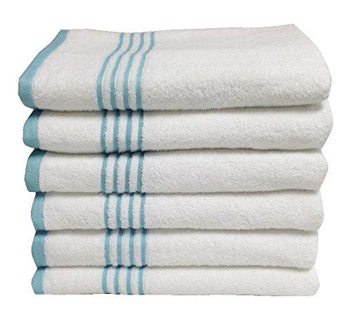 Metro 100% Cotton 6-piece Stripe Bath Towel Set - Sheet Fancy Pants