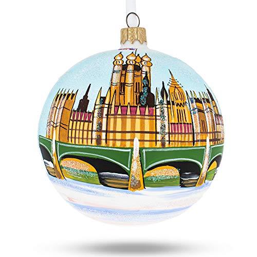 BestPysanky Big Ben, London, UK Glass Ball Christmas Ornament (Personalized Uk Ball Ornaments Christmas)