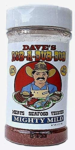 Dave's Rub A Dub Dub Mighty Mild Seasoning Spice Dry Rub for Meats Seafood Veggies 5 OZ