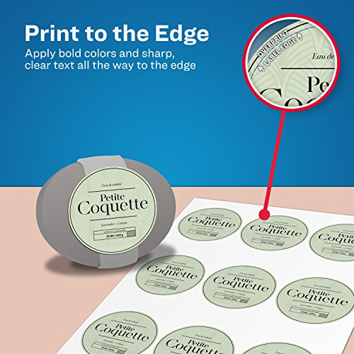 Avery Round Labels, Glossy White, 2 5-Inch size, 90 Labels