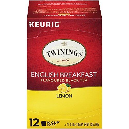 - Twinings English Breakfast Lemon Flavoured Black Tea Keurig K-Cup Pods (12 Count)