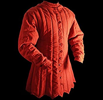 Mittelalter Dick Gepolsterte rot Gambeson aketon Wams scharfschalten Jacke  ARMOR Armour 43b4d09b61