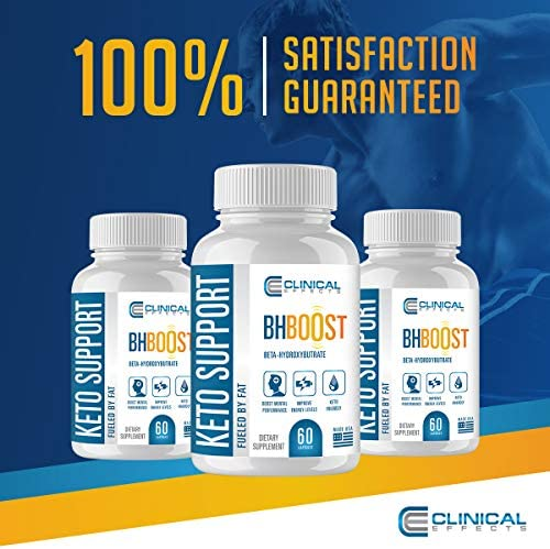 Clinical Effects: Keto Support BHBoost - Dietary Supplement for Keto Weight Loss - 60 Capsules per Bottle - 3 Bottles - Fat Burner Support - Exogenous Ketones - Restore Electrolytes and Boost Energy 9