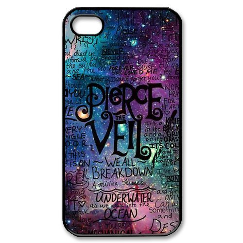 Fayruz- Pierce the Veil Protective Hard TPU Rubber Cover Case for iPhone 4 / 4S Phone Cases A-i4K125