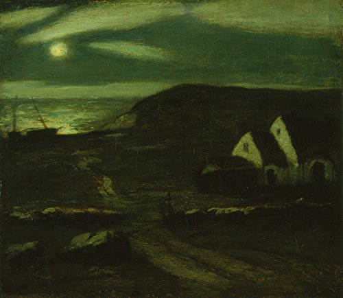 Albert Pinkham Ryder - Fisherman's Hut - Large - Archival Matte - Brown - Hut Foto