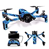Cheap MightySkins Skin for Parrot Anafi Drone – Blue Flames | Protective, Durable, and Unique Vinyl Decal wrap Cover | Easy to Apply, Remove, and Change Styles | Made in The USA