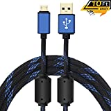 Quartet trade 10-Feet Charging Cable [Rapid Charge] for PS4 Controller/Android Phone/Xbox One