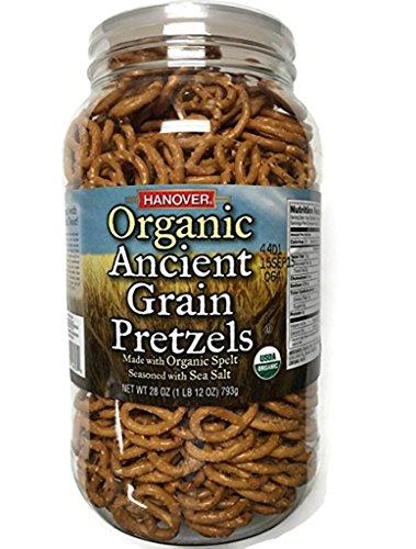 - Hanover Organic Ancient Grains Spelt Pretzels, 28 Oz. Barrel by Hanover