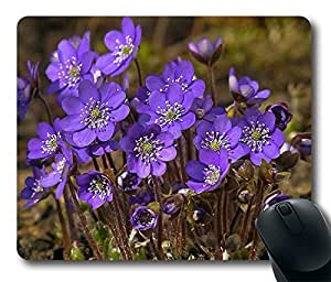 Design The Beautiful Purple Flower Mouse Pad Desktop Laptop Mousepads Comfortable Office Mouse Pad Mat Cute Gaming Mouse Pad