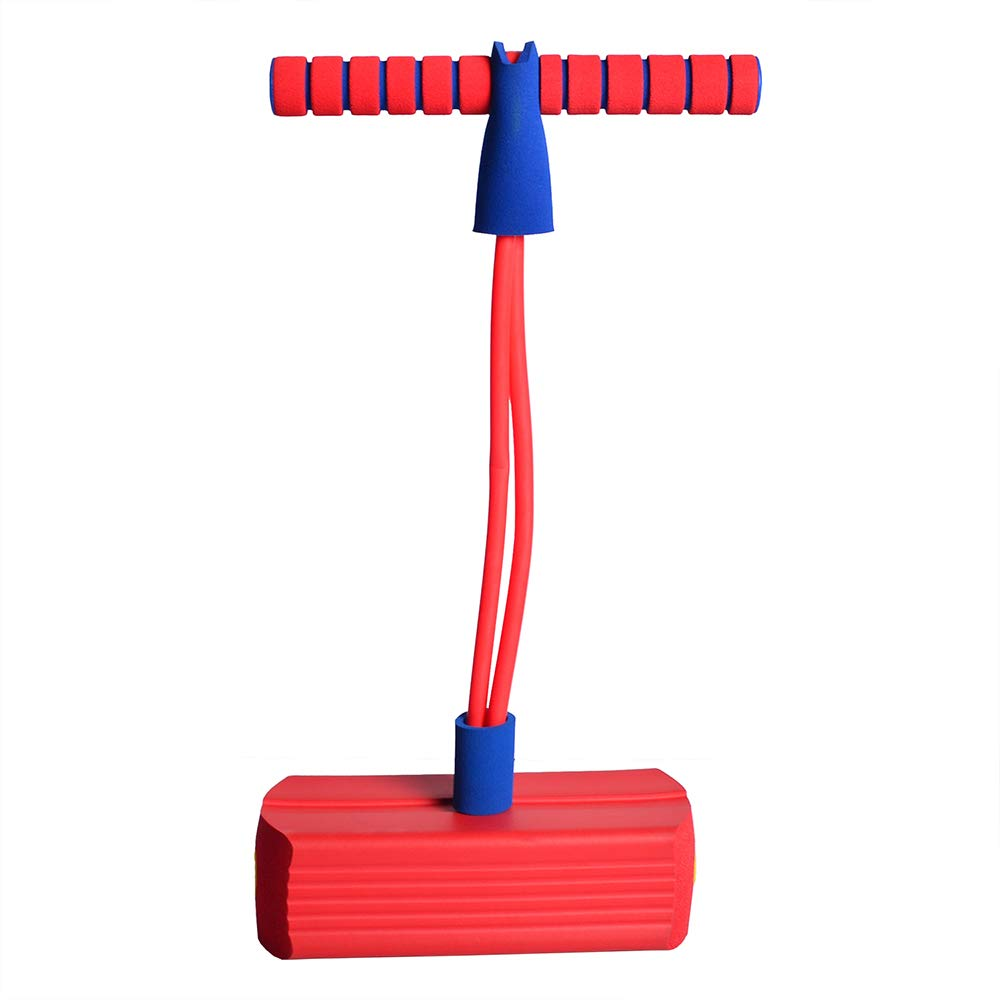 TORPSPORTS Foam Pogo Jumper Fun and Safe Pogo Stick for Kids and Adults with Squeaky Sound Capacity for 250LBs