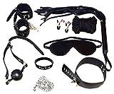 ZIOOER Fetish Bondage Couple Connected Bed Harness Metal Chain Slave Kit, X1