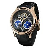 Forsining Men's Luxury Automatic Watch with World Map Tourbillon Movement Stainless Steel