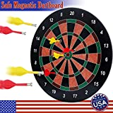 home game room BETTERLINE Magnetic Dartboard Set - 16 Inch Dart Board with 6 Magnet Darts for Kids and Adults, Gift for Game Room, Office, Man Cave and Home