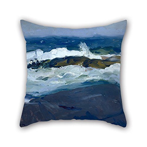 [Uloveme 16 X 16 Inches / 40 By 40 Cm Oil Painting George Bellows - Rock Reef, Maine Cushion Cases,twin Sides Is Fit For Bedding,bar,her,club,coffee House,home] (Bull Rider Costume Toddler)