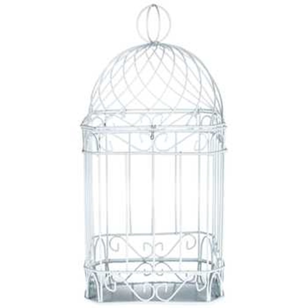DELUXE 14'' WHITE METAL BIRDCAGE HOME DECOR ~ CARDHOLDER by Gerson (Image #2)