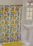 Rubber Duck Ducky Kids Bathroom Shower Curtain