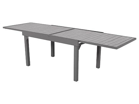 Table extensible composite Piazza 6/10 places Noir/Tonka ...