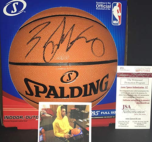 198fc073ff1 Zach LaVine Chicago Bulls Autographed Signed NBA Basketball W Proof Picture  JSA WITNESS COA