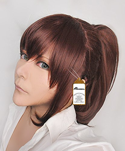 Anogol Hair Cap+Brown Wig Girl Wavy Cosplay Wig with Ponytail Wigs for Anime Cosplay (Cosplay Ideas For Girls With Brown Hair)