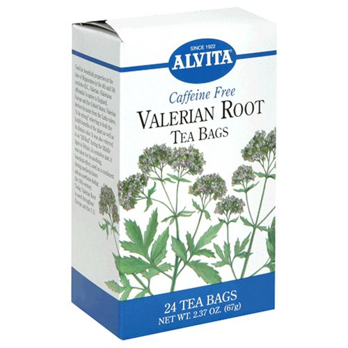 Valerian Root Tea (Alvita Tea Bags, Valerian Root, Caffeine Free, 24 tea bags (Pack of 3))