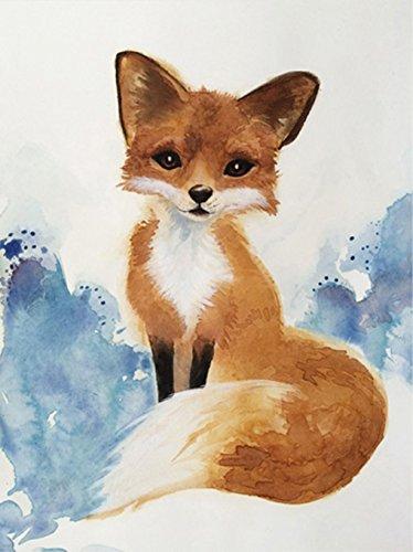 Cheap  Watercolor Fox Art Giclee Print