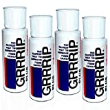 GRRRIP Plus Enhancer, Improve Grip, Dry Hands Grip Lotion. (4) 2-oz. Bottles, 236 ml total. Also available in Packs of 1, 2, 8, and 12. Proven results for CrossFit, Tennis, Golf.