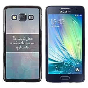 Be Good Phone Accessory // Dura Cáscara cubierta Protectora Caso Carcasa Funda de Protección para Samsung Galaxy A3 SM-A300 // BIBLE The Garment Of Love