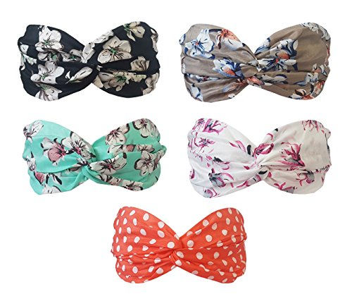BeautyN 5 Pack Headbands Headwrap Hair Band Elastics Hair Ac
