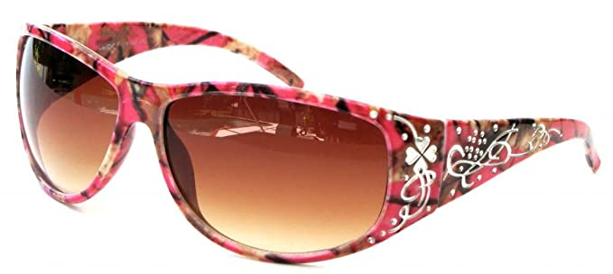 8cf9fcf4491 VertX Womens Hot Pink Camouflage Sunglasses Fishing Hunting – Hot Pink Camo  Frame – Amber Lens