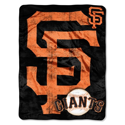 (Officially Licensed MLB San Francisco Giants Triple Play Micro Raschel Throw Blanket, 46