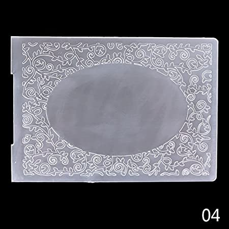 YOUNGFLY Plastic Embossing Folder DIY Album Card Tool Template Classical Pattern #6