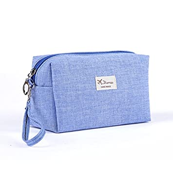 Labu Store Style Toiletry Bags Canvas Travel Cosmetic Bag Small Organizer  Women Makeup Bag Neceser Make 0b62dc36bc355
