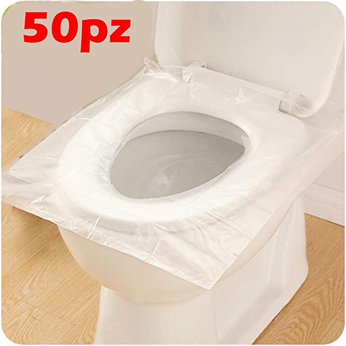 41 opinioni per Confezione 50 Pezzi, Copertura Igienica Monouso per WC Viaggio Tavoletta Copri