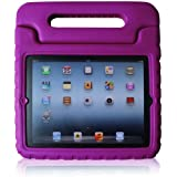 Fintie iPad 2/3/4 Kiddie Case - Light Weight Shock Proof Convertible Handle Stand Kids Friendly for Apple iPad 4th Generation With Retina Display, the iPad 3 & iPad 2 - Purple