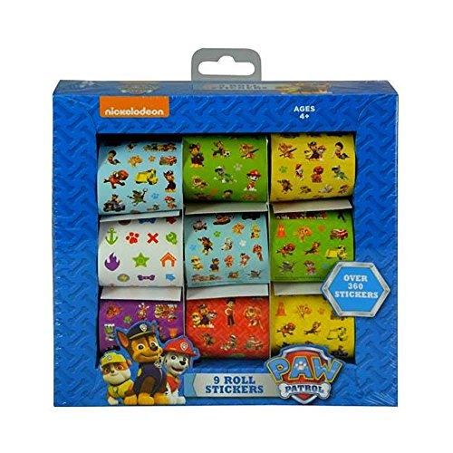 Nickelodeon Paw Patrol 9 Rolls Sticker Box Set, Over 360 Sti