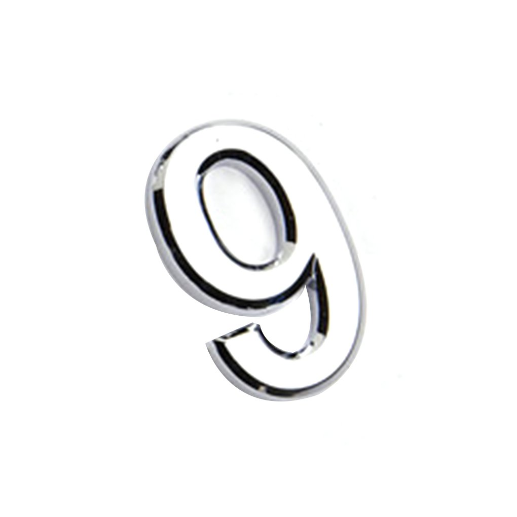 Morza Numeral Door Plaque House Sign Plating Gate 0 to 9 Plastic Number Tag Hotel Home Sticker Door Label